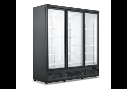 ProChef Réfrigerateur noir   3 portes en verre   1880x710x1997mm
