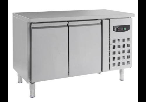 Combisteel Table réfrigérée positive 600 | Inox 2 portes