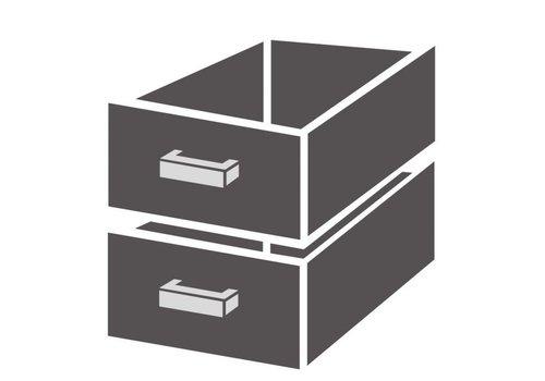 Combisteel Bloc de tiroirs 1/2 standard