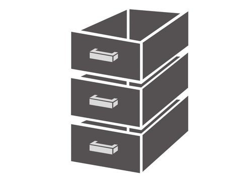 Combisteel Bloc de tiroirs 1/3 standard