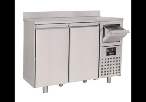Combisteel Table Réfrigérée avec Dosseret et Tiroir pour Café | 2 à 3 Portes
