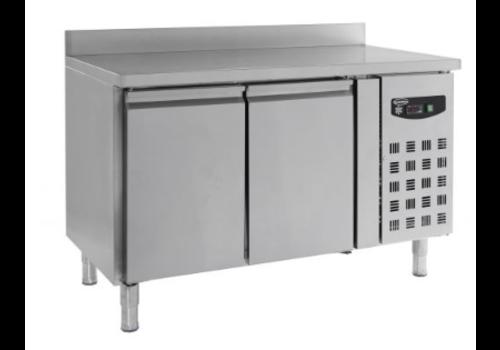Combisteel Table réfrigérée | Avec dosseret | 2 portes
