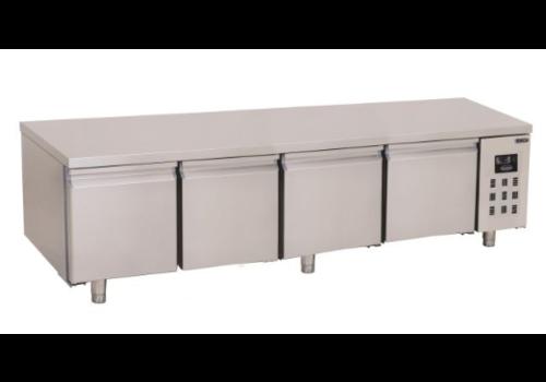 Combisteel Table Réfrigérée Positive | 4 Portes sans Dosseret