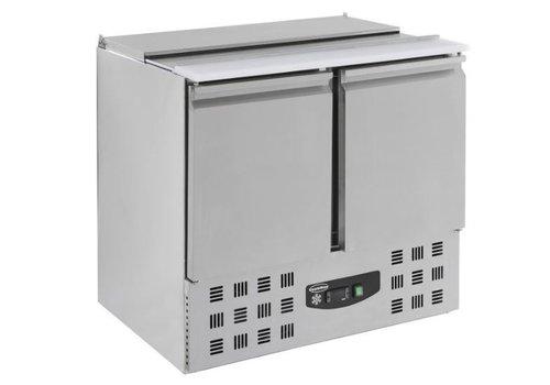 Combisteel Saladette réfrigérée compacte 230 litres   2 portes