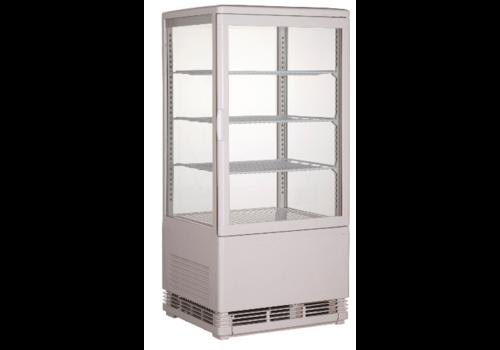 Combisteel Vitrine Réfrigérée | Blanche | 68 L
