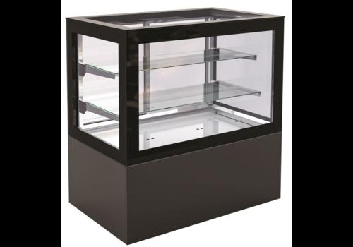 Combisteel noir vitrine refrigeree | des tailles différentes