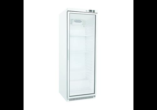 ProChef Réfrigérateur blanc avec porte vitrée | 400 litres | refroidissement statique avec ventilateur