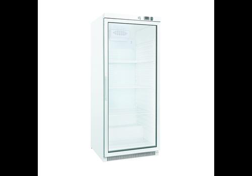 ProChef Réfrigérateur blanc avec porte vitrée | 600 litres | refroidissement statique avec ventilateur
