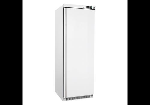 ProChef Réfrigérateur en acier blanc | 400 litres | refroidi statiquement avec ventilateur
