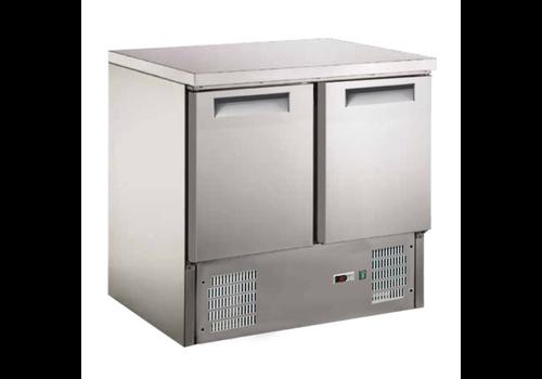 ProChef table réfrigérée 2 portes acier inoxydable