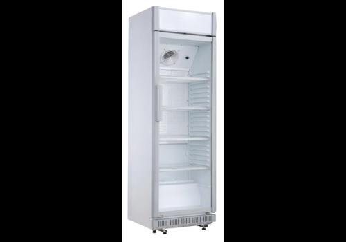 Polar Armoire réfrigérée 1 porte vitrée avec caisson lumineux | 346 L | 1935(H) x 620(L) x 635(P) mm