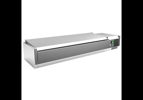 ProChef Réfrigérateur de comptoir  en acier inoxydable 5x GN1/3 + 1x GN1/2 avec couvercle