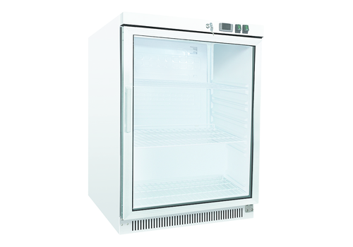 ProChef Blanc | 200 ltr réfrigérateur avec porte vitrée | statiquement refroidi