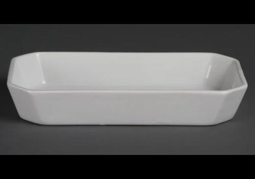 Olympia kristallon Plats à hors d'oeuvre oblongs blancs   23,5 x 12,2cm   lot de 6