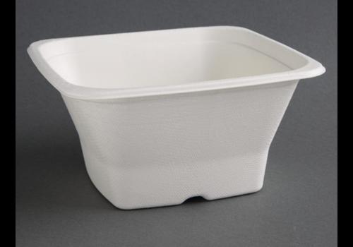 ProChef Bols carrés compostables en bagasse | trois tailles