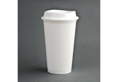 ProChef Gobelets à café réutilisables avec couvercles en polypropylène Olympia (lot de 25)
