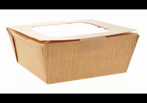 ProChef Boîtes alimentaires moyennes en carton avec fenêtre recyclables  |1070ml (lot de 270)