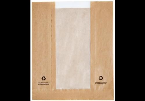 Sachets en papier avec fenêtre glassine | lot de 1000