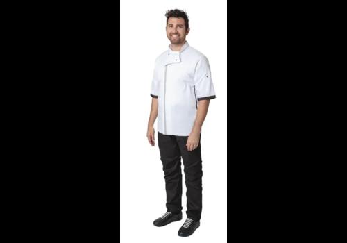 ProChef Veste de cuisine blanche à manches courtes | six amis