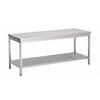 ProChef acier inoxydable table de travail avec étagère, 1800(l)x700(d)x850(h)mm.