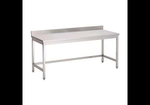 ProChef Table de travail avec bord relevŽ | sans étagère