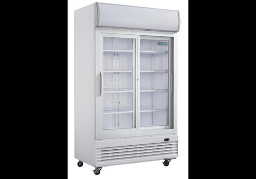 Polar Armoire réfrigérée | 2 portes vitrées coulissantes | 950L