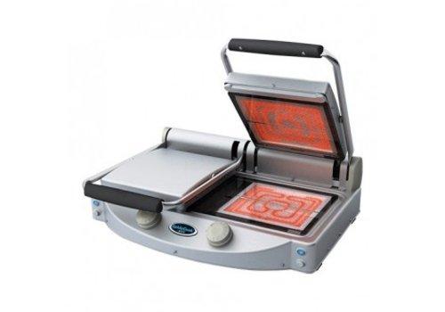 ProChef Grille de contact en céramique Unox SpidoCook - 2x 250x250 mm, lisse