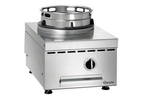 Bartscher Cuisinière à Wok Inox   1 Brûleur   11,5kW   40x60x41,5(h)cm