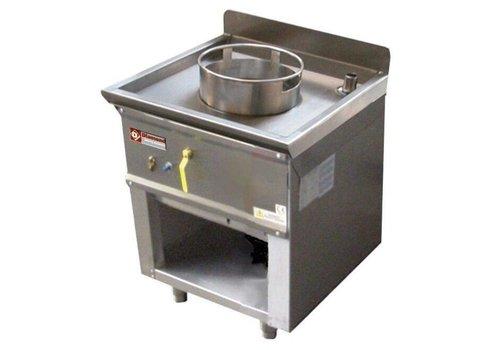 Diamond Fourneau wok 1 brûleur armoire ouverte   23kW   63(L)x60(P)x76(H)cm