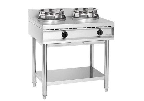 Bartscher Cuisinière à Wok Inox   2 Brûleurs   23kW   90x60x96(h)cm