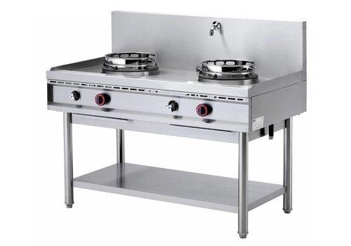 Diamond Fourneau wok   2 brûleurs avec rideau d'eau   2 x 15kW