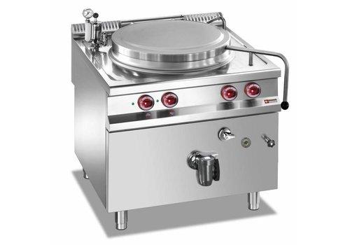 Marmite électrique | inox | cuve 100 litres | chauffage indirect | 14,4kW | 80(L)x90(P)x85/92(H)cm