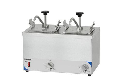 ProChef Pompe à Sauce Chauffant Double   200W   L 413 x P 320 x H 355 mm