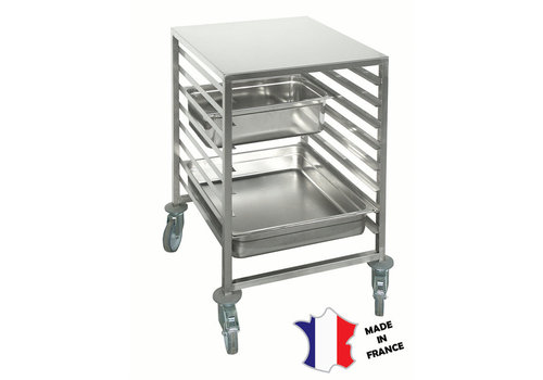 Sofinor Chariot echelle bas GN2/1 | Inox | 8 etages | roulettes polyamide | 590(l)x683x900mm