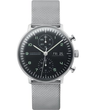 Junghans watches Watch Junghans Max Bill Chronoscope 027/4500.45 English