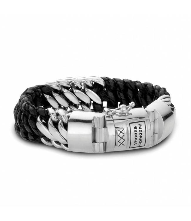 Buddha to Buddha Ben Mix /Leather Bracelet Black