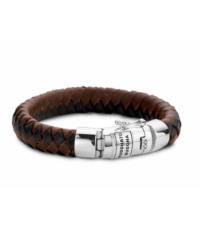 Buddha to Buddha Ben Leather Bracelet Black & Brown