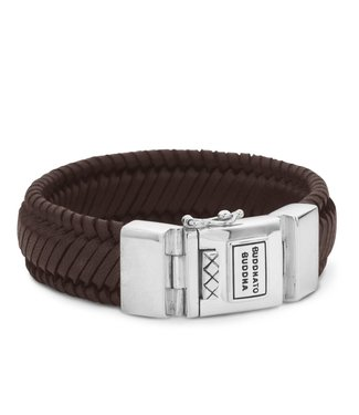 Buddha to Buddha Edwin Leather Bracelet Brown