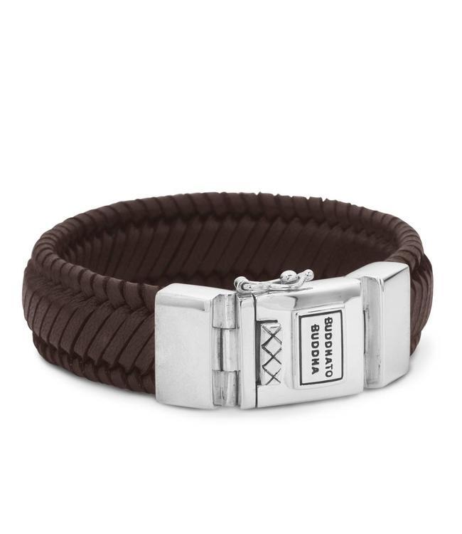 Buddha to Buddha Edwin Leather Bracelet Brown