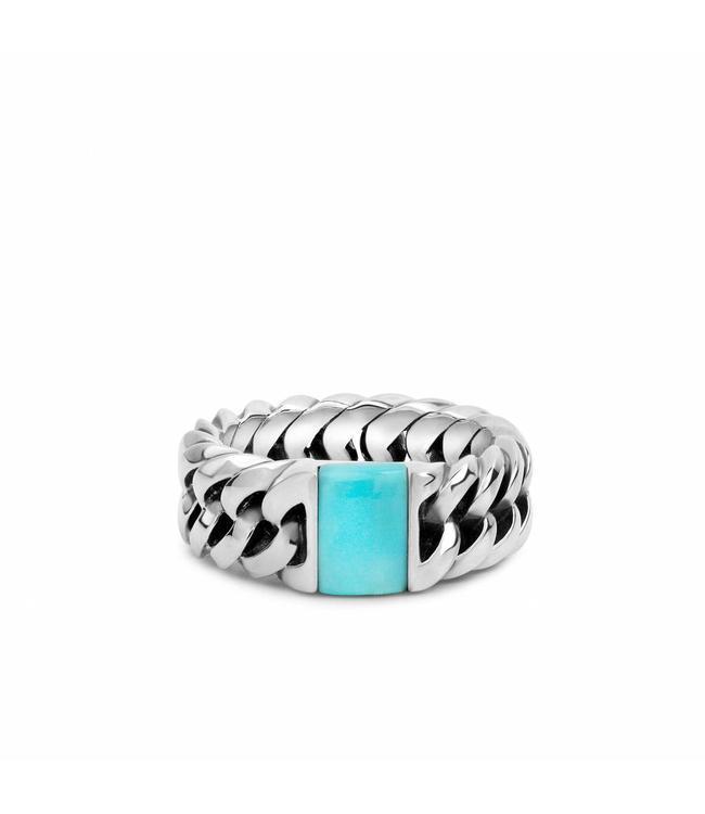 Buddha to Buddha Chain Stone Ring Turquoise