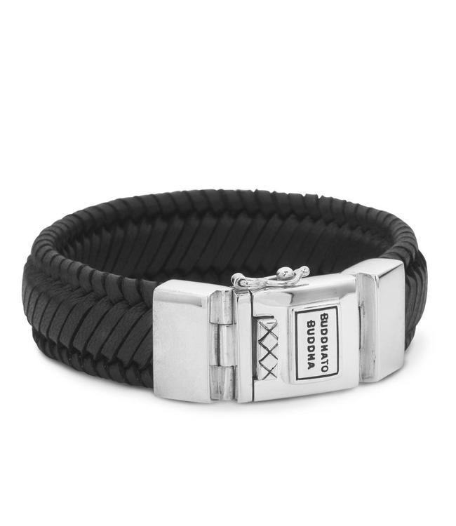 Buddha to Buddha Edwin Leather Bracelet Black