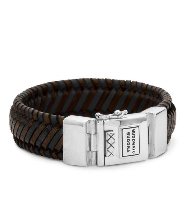 Buddha to Buddha Edwin Leather Bracelet Mix Black & Brown