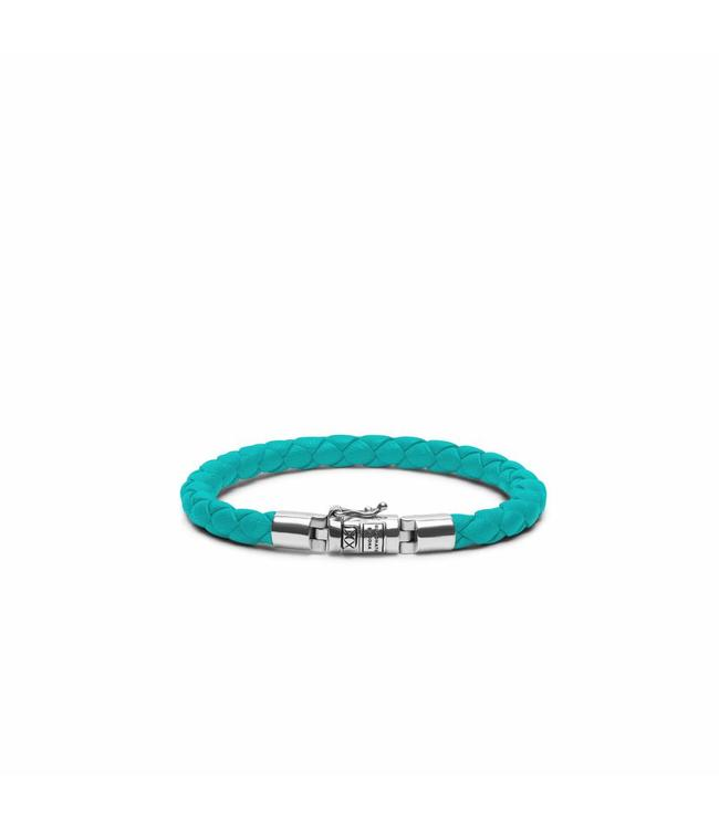 Buddha to Buddha Ben XS Round Leather Aqua