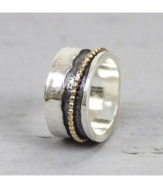 Jeh Jewels Ring zilver + Goldfilled 18692