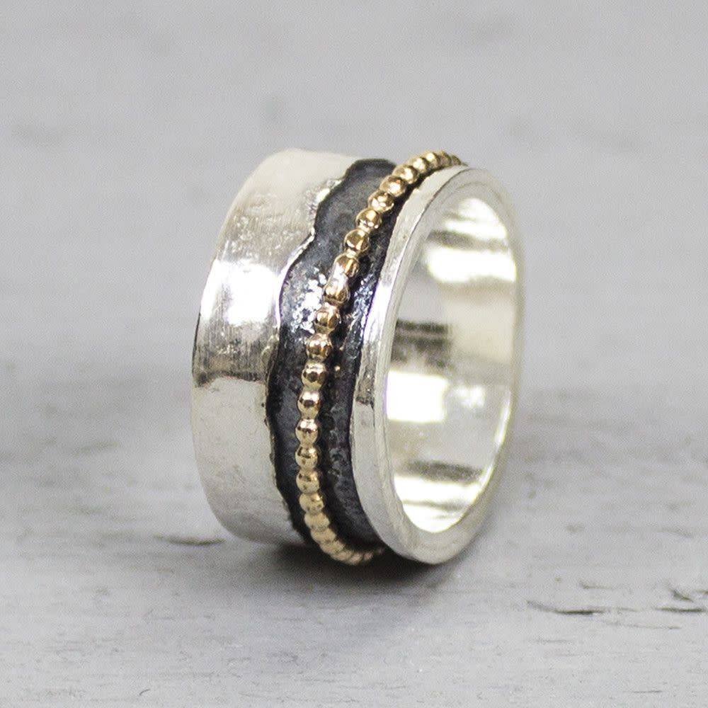 Ring Silver + Gold Filled 18692-3