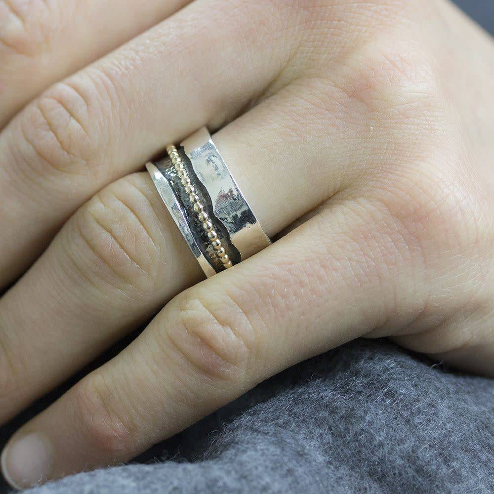 Ring Silver + Gold Filled 18692-8
