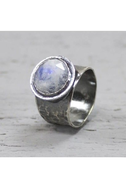 Ring Silver + Moonstone 19495