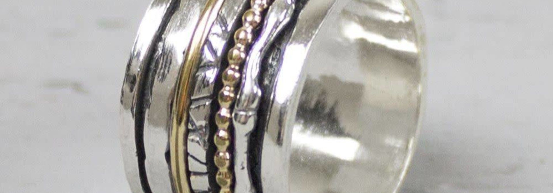 Ring silver oxy + White 18484