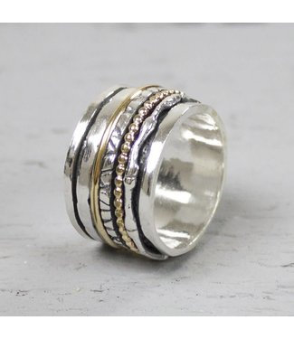 Jeh Jewels Ring zilver oxy + wit 18484
