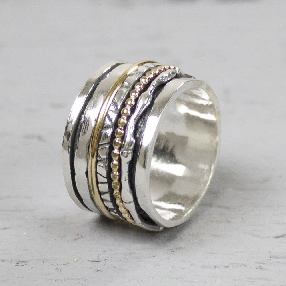 Ring silver oxy + White 18484-5